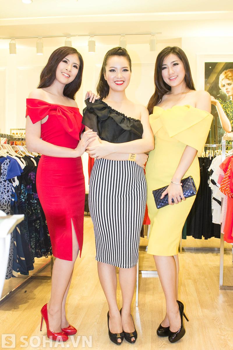 Ba đại diện của nhan sắc Việt cùng đọ sắc.