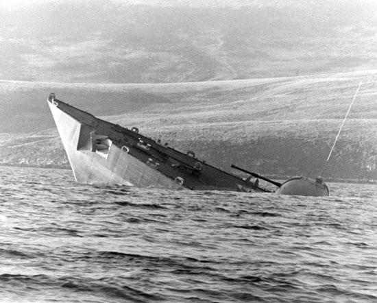Một tàu Hải quân Hoàng gia Anh bị chìm trong cuộc chiến tranh 1982