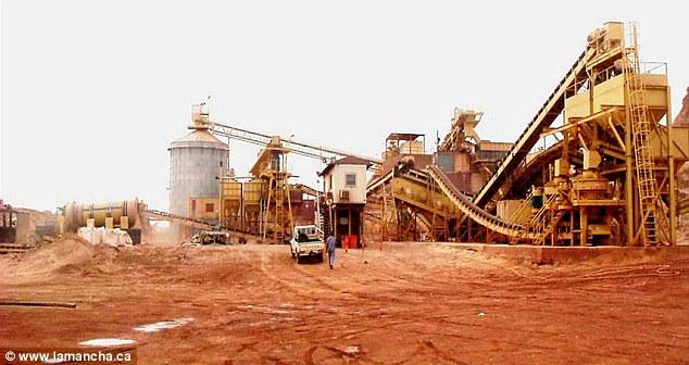 Hình ảnh thu được từ mỏ vàng Ity