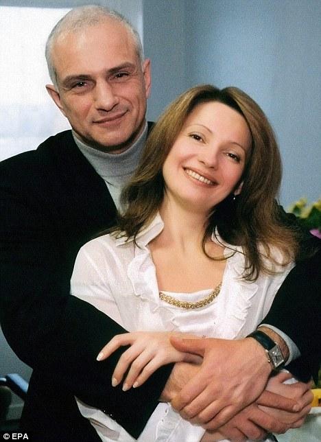 Bà Yulia Tymoshenko cùng chồng.