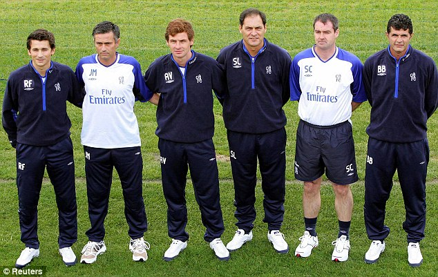 Mourinho và những người trợ lý trong nhiệm kỳ 1 tại Chelsea