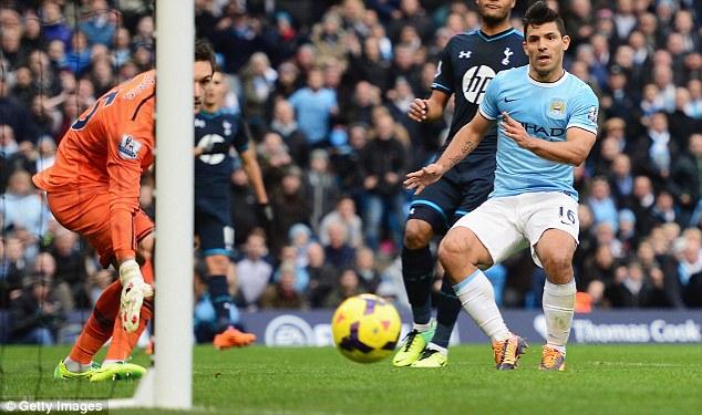 Sergio Aguero (Man City) ra sân 11 lần và ghi được 10 bàn thắng. Anh hiện đang là tay săn bàn tốt nhất tại Premier League.