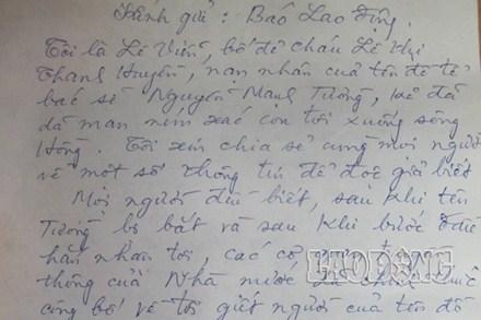 Những dòng tâm thư của bố đẻ nạn nhân