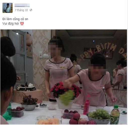 Hình ảnh sinh nhật của Khánh tại chỗ làm vào ngày 7/10