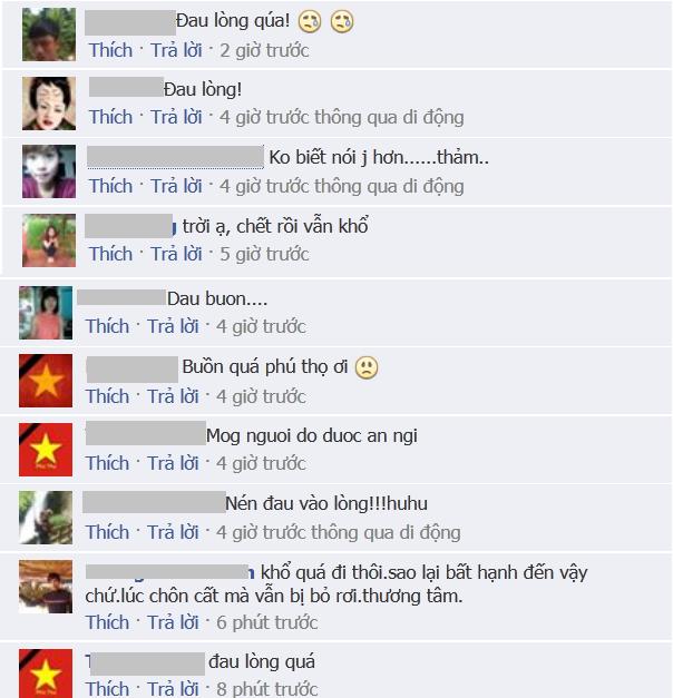 Những bình luận nghẹn ngào của dân mạng.