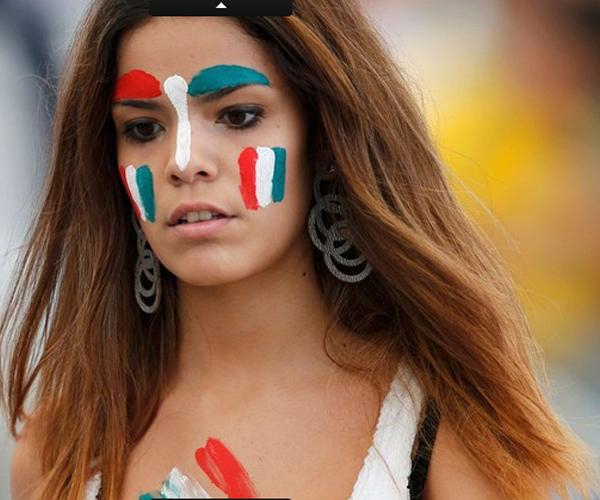 Còn đây là bóng hồng có mặt trên sân Maracanã theo dõi cuộc đọ sức giữa Mexico và Italia