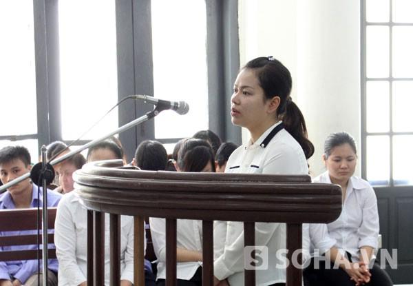 Bị cáo Hà tại phiên tòa