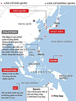 Lực lượng quân sự Mỹ ở Okinawa sẽ được chuyến bớt sang các căn cứ Guam, Darwin để tránh nguy hiểm từ Trung Quốc, Triều Tiên