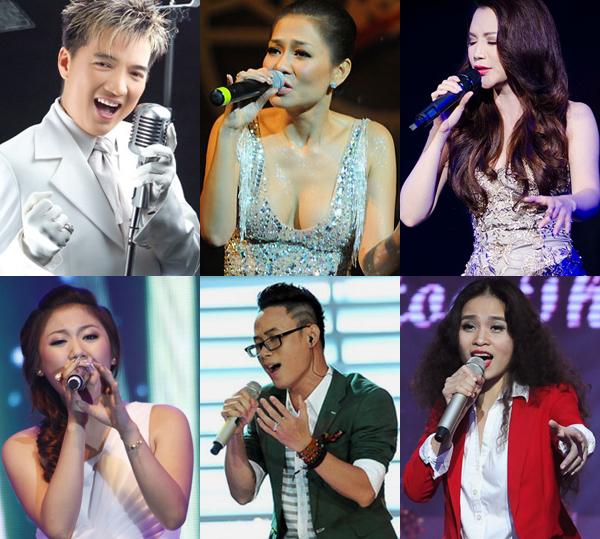 Dàn ca sĩ sẽ tham gia trình diễn trong đêm nhạc đầu tiên của Hits & Những bản tình ca.