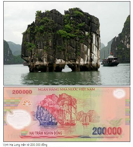 Cảnh đẹp trên những tờ tiền Việt Nam