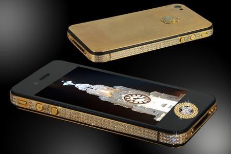 Chiếc iPhone 5 nạm kim cương đen