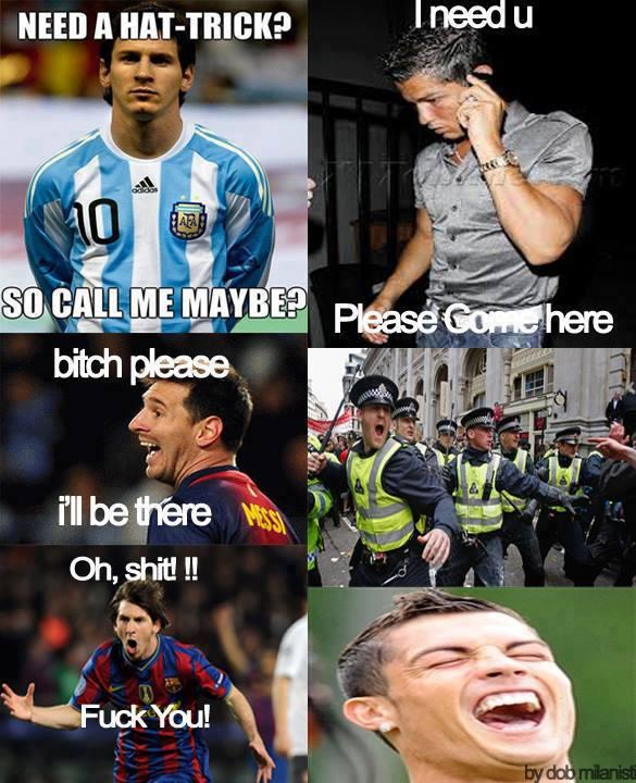 Messi bị Cris Ronaldo lừa ngoạn mục