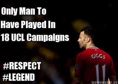 Cầu thủ duy nhất được thi đấu tại 18 kì Champions League