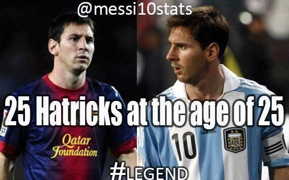 Messi – 25 tuổi, 25 cú hat-trick