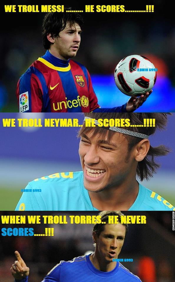 Troll, troll nữa, troll mãi thì Torres cũng chỉ vậy thôi