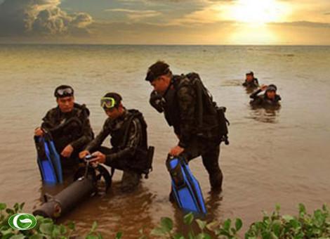 Các trang bị của đặc công người nhái Việt Nam