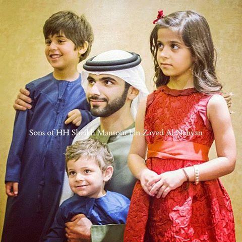 Sheikh Mansour rất cưng chiều con cái