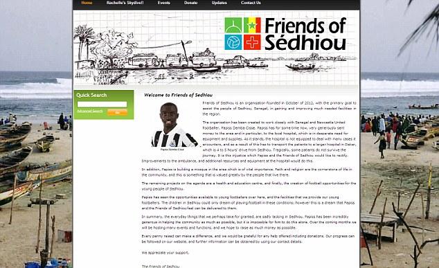 Trang web từ thiện của Cisse