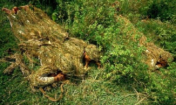 Kỹ thuật nguy trang này được sử dụng khi tấn công các mục tiêu gần các khu vực đồi núi nhiều cây cỏ