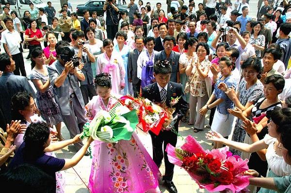 Một đám cưới ở Triều Tiên.