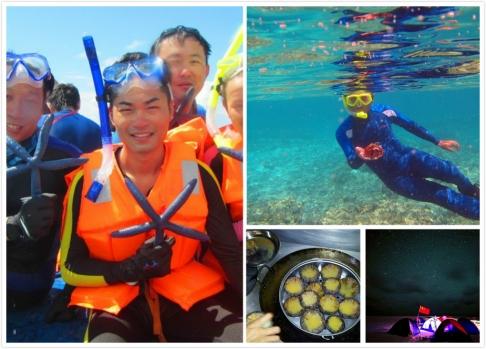 Những con nhím biển mà họ bắt gặp khi lặn sẽ trở thành món ăn sau đó.