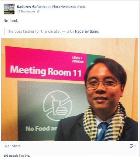 Bức ảnh ông Sano chia sẻ lại trên Facebook của mình.