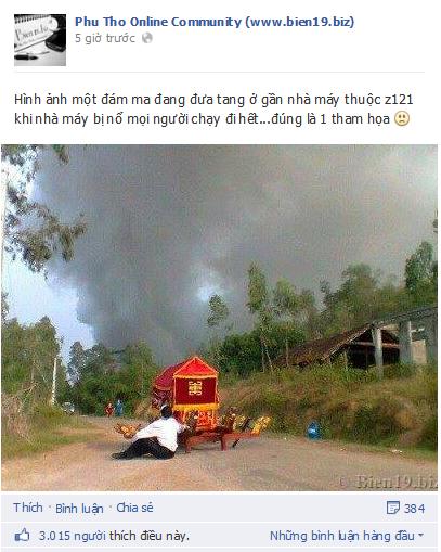 Nghẹn lòng bức ảnh xe tang bị bỏ lại giữa đường ở Phú Thọ