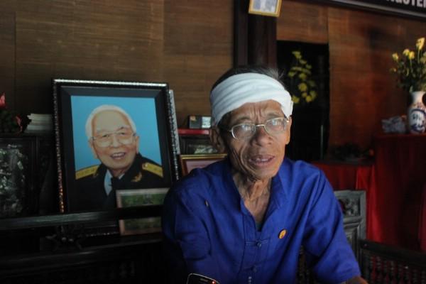 Ông Võ Đại Hàm (70 tuổi), cháu gọi Đại tướng Võ Nguyên Giáp bằng ông.