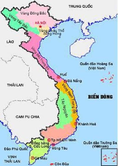 Bản đồ Việt Nam và Biển Đông