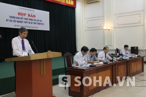 Họp báo thông báo tổng kết kỳ thi tốt nghiệp chiều ngày 4/6 của Bộ GD.