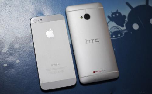 Ảnh đẹp HTC One đọ thiết kế với iPhone 5