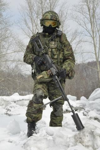 Theo suy đoán, sở dĩ đầu nòng súng lại có thiết kế ống lớn như vậy nhằm che luồng lửa phụt ra khi nã đạn, giúp không để lộ vị trí của xạ thủ trước đối phương. Ngoài ra, ống đầu nòng lớn này còn giúp giảm thanh.