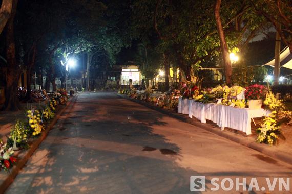 Hoa viếng vẫn tràn ngập sân nhà số 30 Hoàng Diệu.