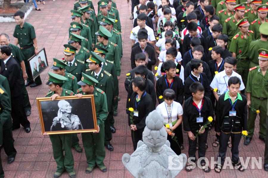 Lễ viếng đại tướng Võ Nguyên Giáp trên đồi E2