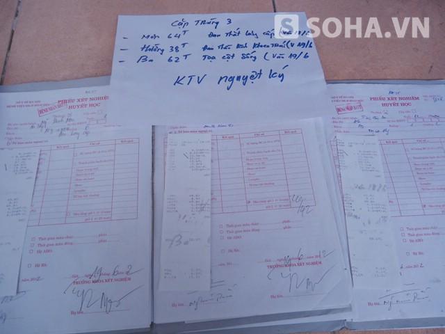 Bức ảnh được cho là chụp lại cặp kết quả trùng 3 như ông Liêm tố cáo chị Nguyệt