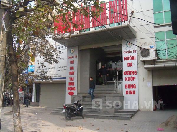 Phòng khám nơi nạn nhân đến cắt trĩ