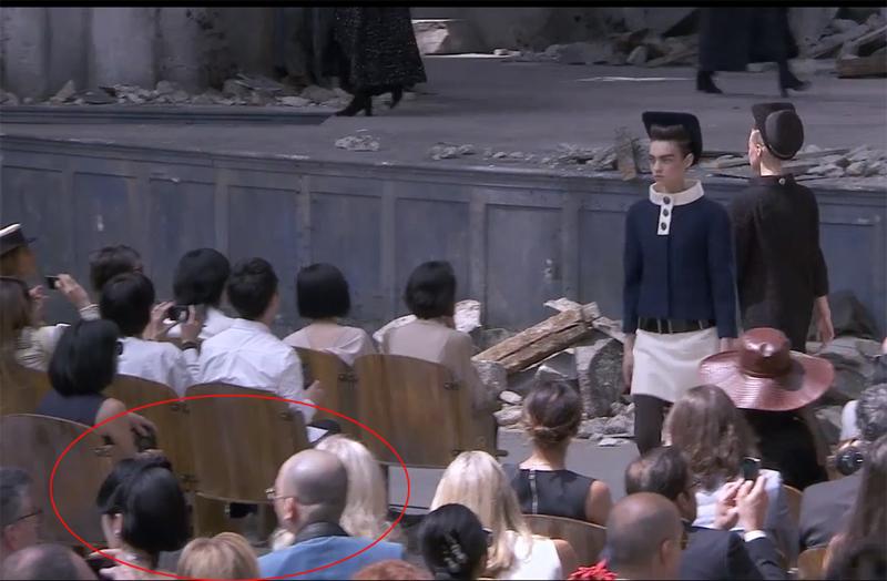 Lý Nhã Kỳ không được ngồi ghế đầu trong buổi ra mắt của Chanel