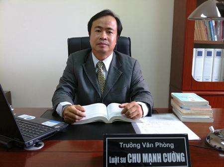 Luật sư Chu Mạnh Cường- Trưởng Văn phòng luật sư Danh Chính (Đoàn Luật sư TP. Hà Nội) (Ảnh: Dân Việt)