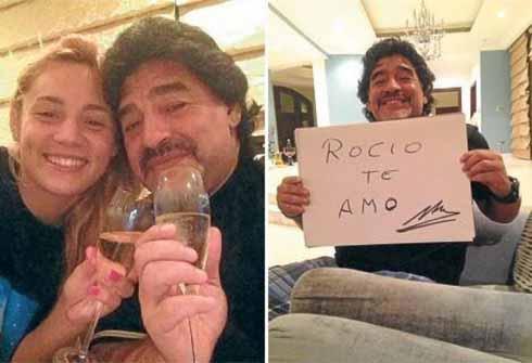 Maradona cặp bồ trẻ cạnh tranh với Pele?
