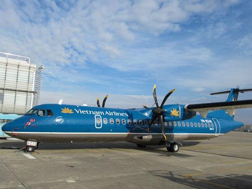 Chiếc chuyên cơ ATR72 đã sẵn sàng nhận nhiệm vụ chở linh cữu Đại tướng về nơi an nghỉ tại quê nhà.