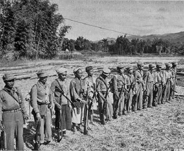 Một nhóm quân du kích Miến Điện do OSS tổ chức