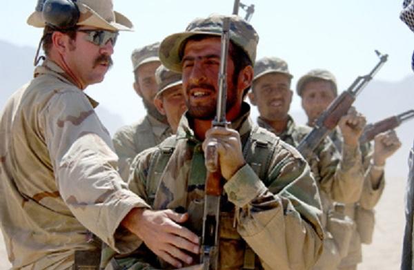 Mũ nồi xanh huấn luyện quân đội quốc gia Afghanistan