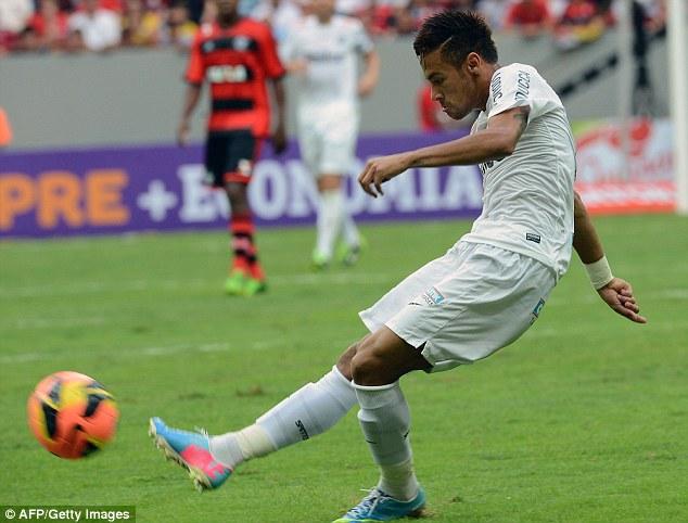 Neymar không thể ghi bàn trong trận cuối đá cho Santos