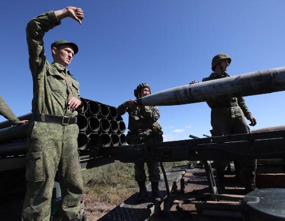 Xem pháo phản lực Grad, Uragan của Nga dội