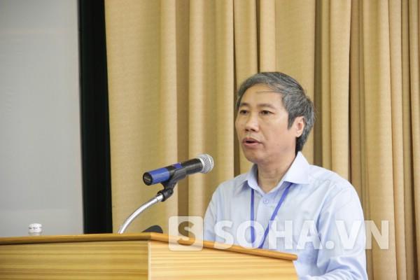 PGS.TS Ngô Kim Khôi, Cục trưởng Cục Khảo thí và Kiểm định chất lượng, Bộ GD&ĐT trả lời báo chí chiều ngày 10/7.