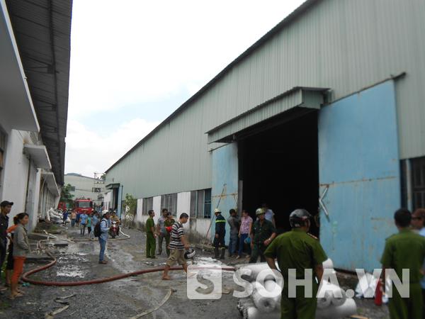 Khu nhà xưởng nơi xảy ra hỏa hoạn