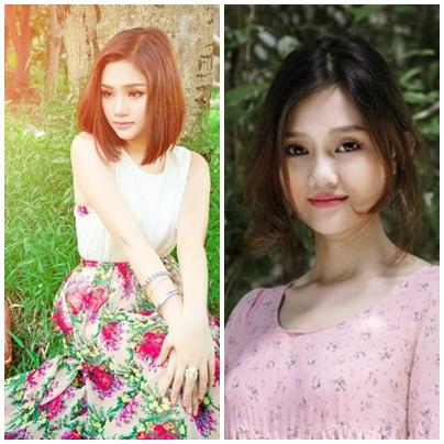 Nhật Hạ (bên trái) có nhiều điểm giống với ca sĩ Miu Lê