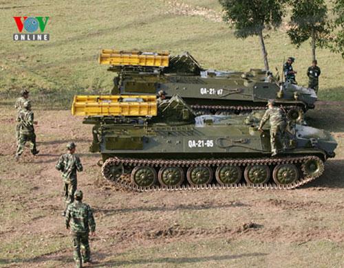 Hệ thống phòng không tầm thấp 9K35 Strela-10 trong cuộc diễn tập bắn đạn thật TB1.