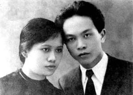 Võ Nguyên Giáp và Nguyễn Thị Quang Thái. Ảnh tư liệu.