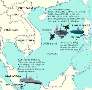 Từ vịnh Subic có thể kiểm soát được biển Đông